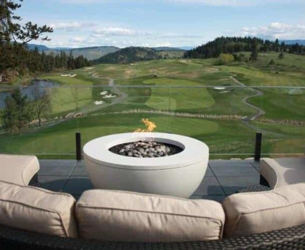 Solus Hemi with ring gas fire pit Predator Ridge - Okanagan, BC