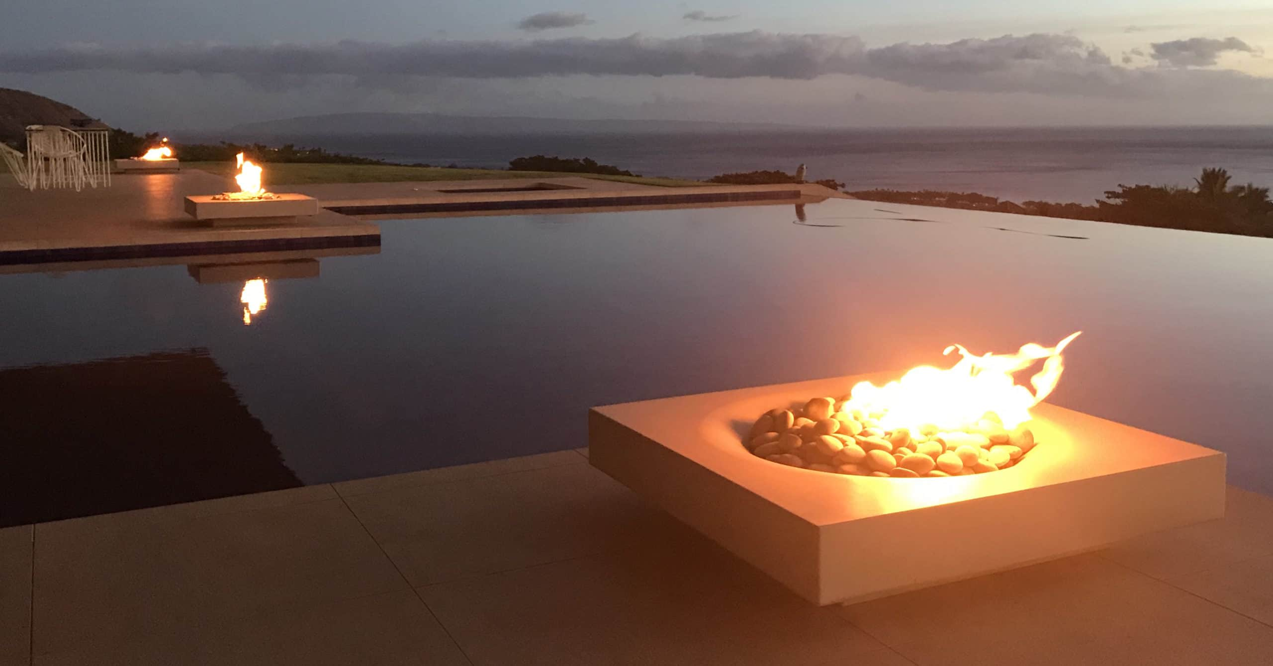 Halo Low 36 Fire Pit - Waikiki Hawaii