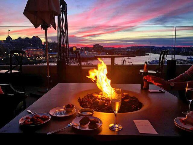 Elevated Halo 48 Fire Table - Victoria, BC